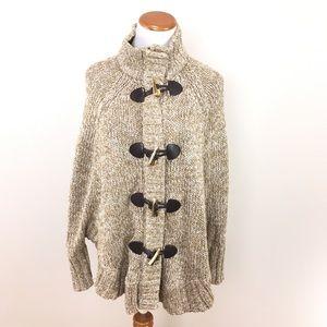 Micheal Michael Kors Toggle Sweater Poncho Cape